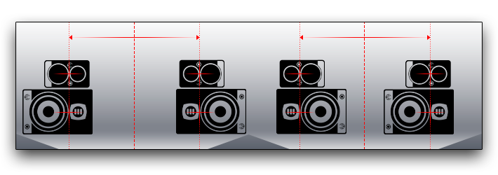 EVE Audio - Speaker position in a stereo setup