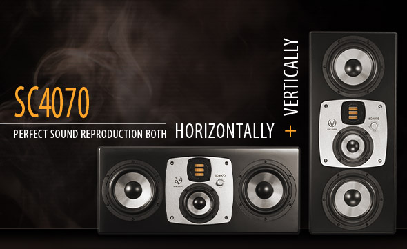 EVE Audio SC4070 Studio Monitor - Perfect sound reproduction both horizontally and vertically